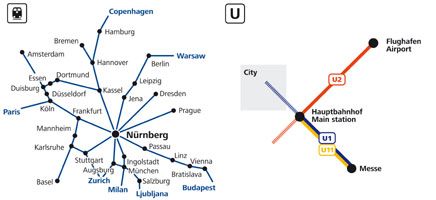 NürnbergMesse Travel - Train