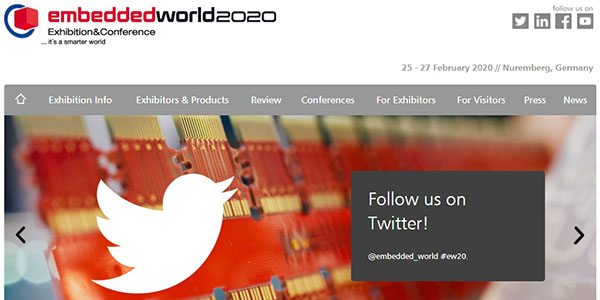 At the Website of embedded world